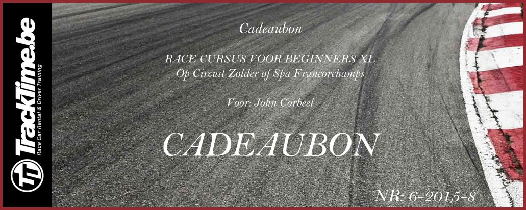 Cadeaubon Race Cursus Voor Beginners XL