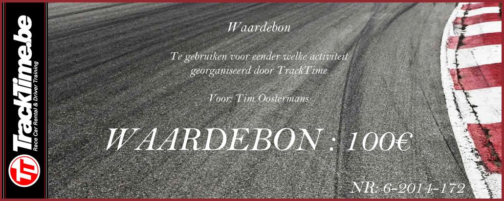 TrackTime Waardebon 100€