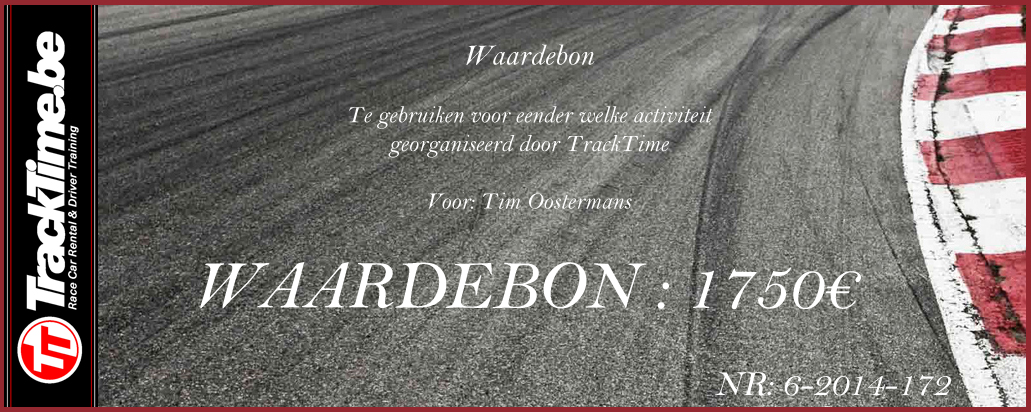 TrackTime Waardebon 1750 €
