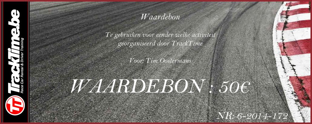 TrackTime Waardebon 50€